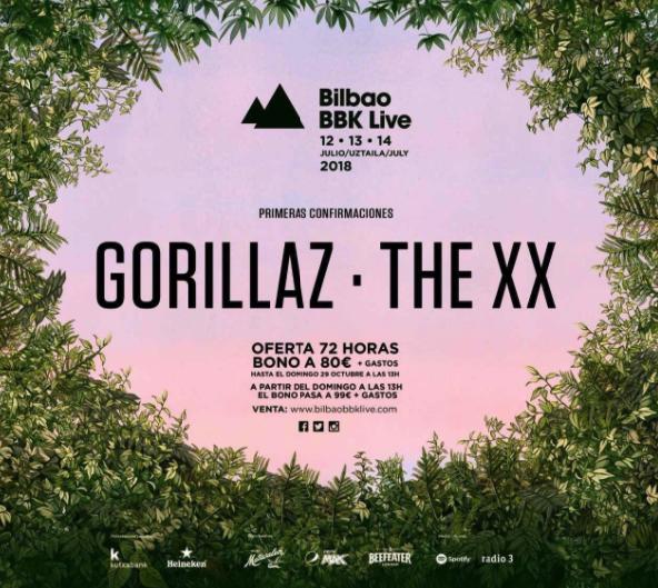 Cartel del BBK Live 2018 actualizado