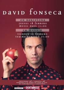 David Fonseca en concierto en España en febrero 2016